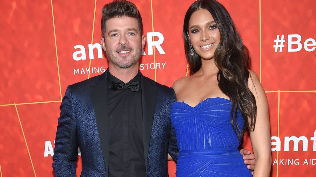 celebrities having babies in 2019 Robin Thicke April Love Geary
