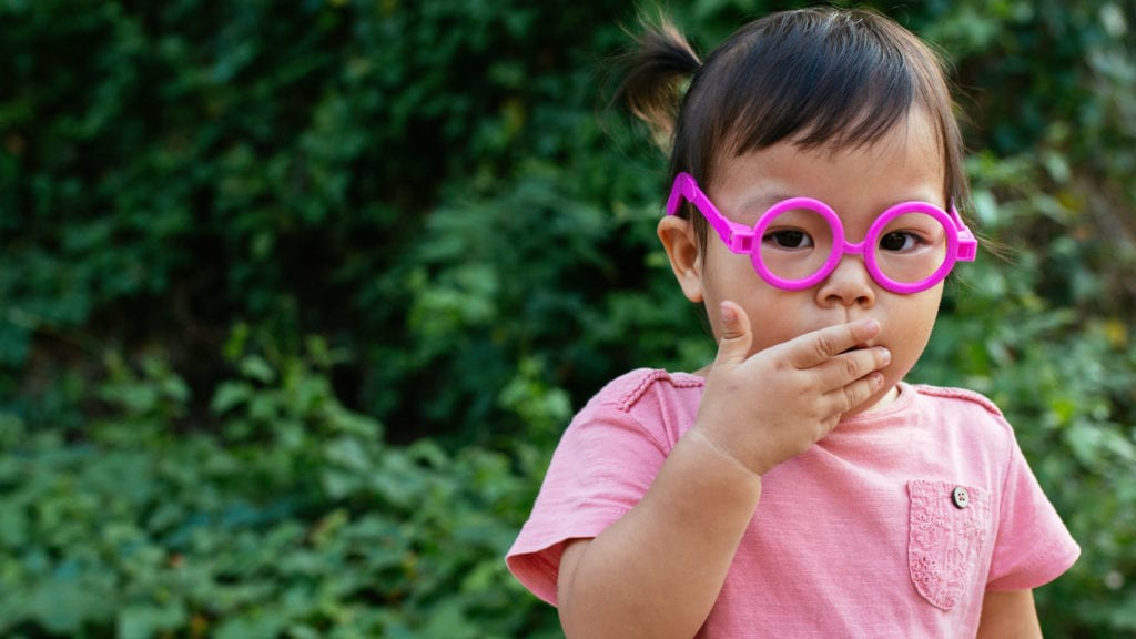 learning good manners - covering your mouth when coughing