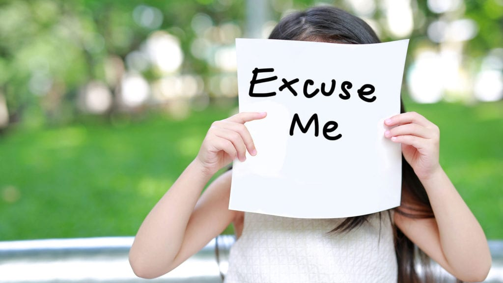 """saying """"excuse me"""" is another good manner every kid should know"""