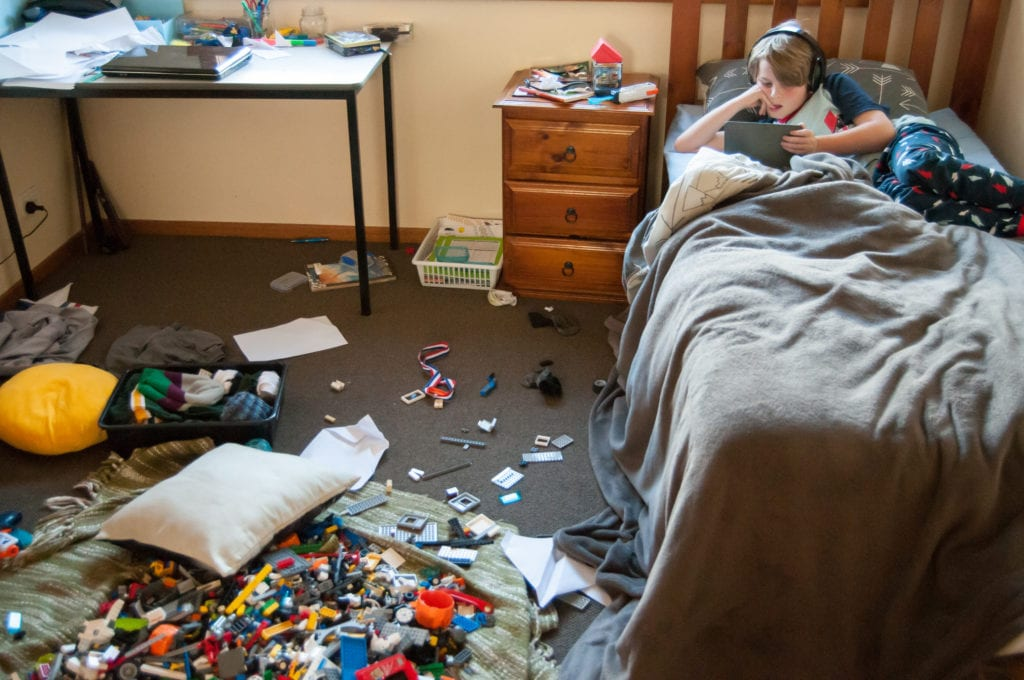 when your kid is a slob