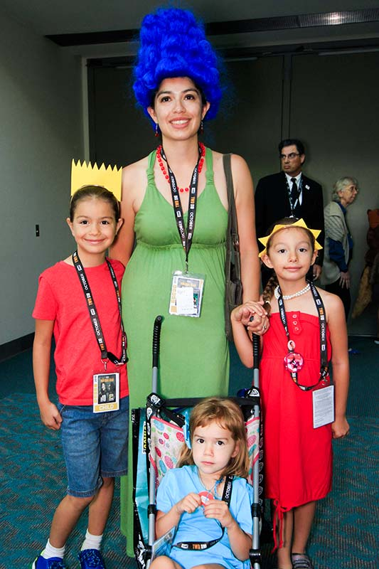 Family cosplay photos