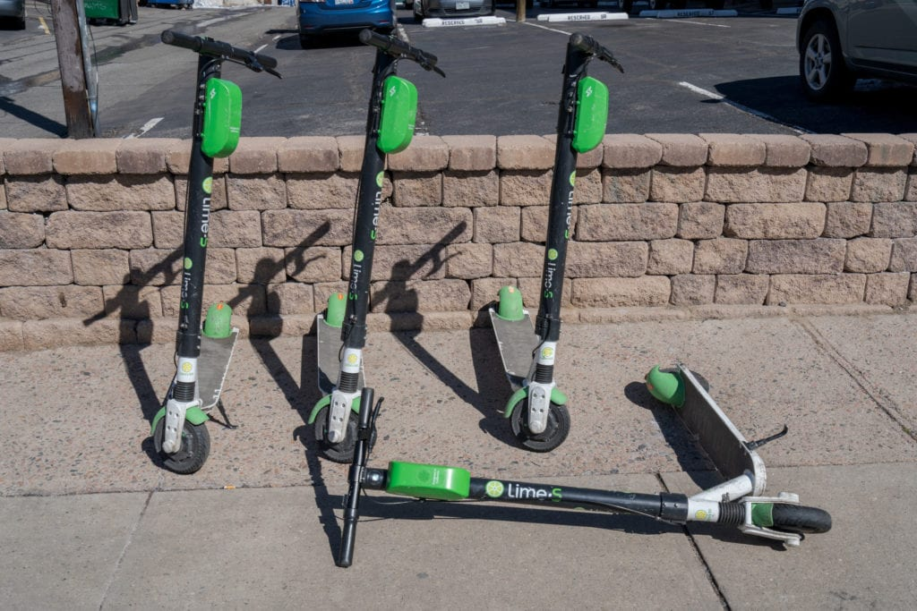 Electric scooter hit and run lime bird uber lyft