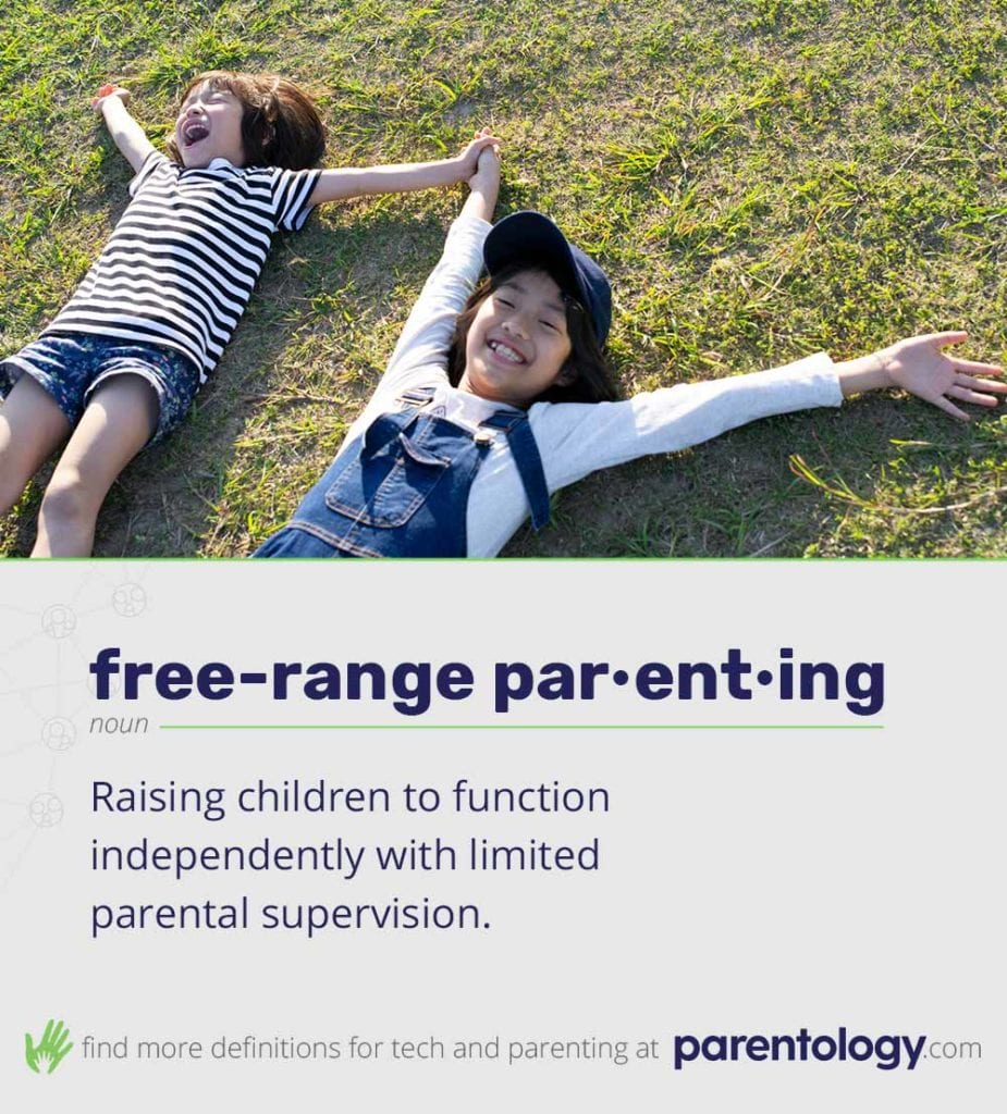 What does free range parenting mean? Definition