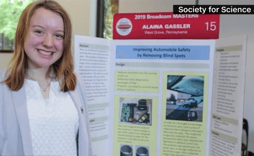 Teen Invents Solution to Cars' Blind Spots