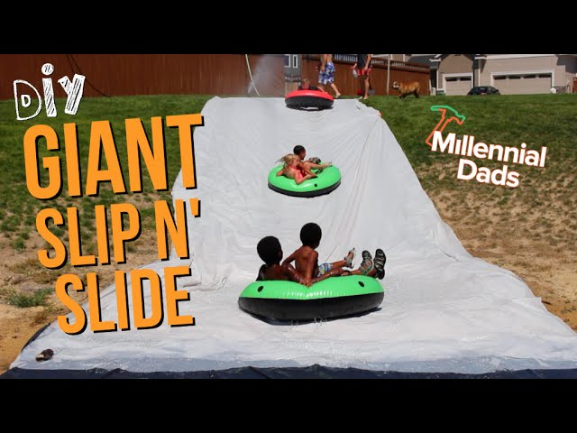 how to make a DIY slip and slide