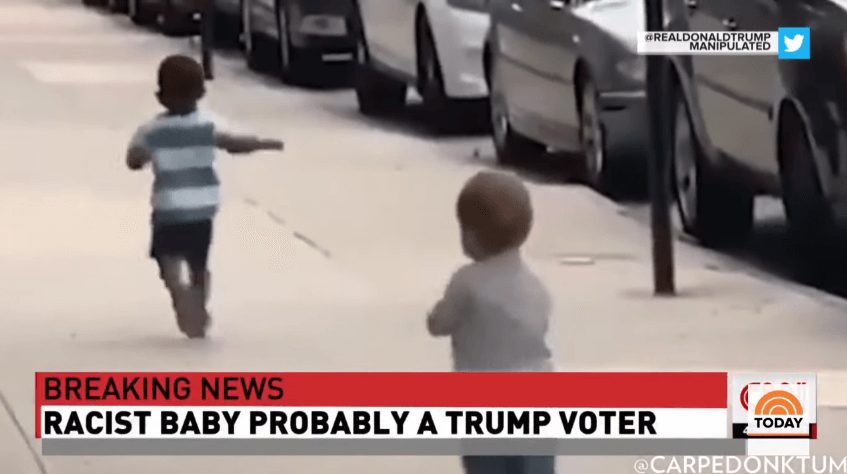'Racist baby' video shared by Donald Trump flagged as 'manipulated media' by Twitter
